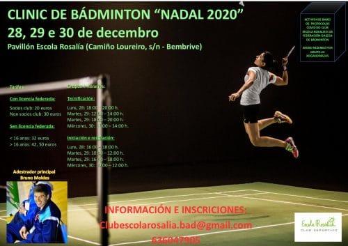 Lee más sobre el artículo Clinic de badminton «NADAL 2020»
