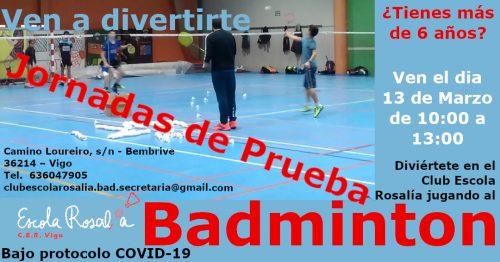 Lee más sobre el artículo Jornadas de prueba Badminton